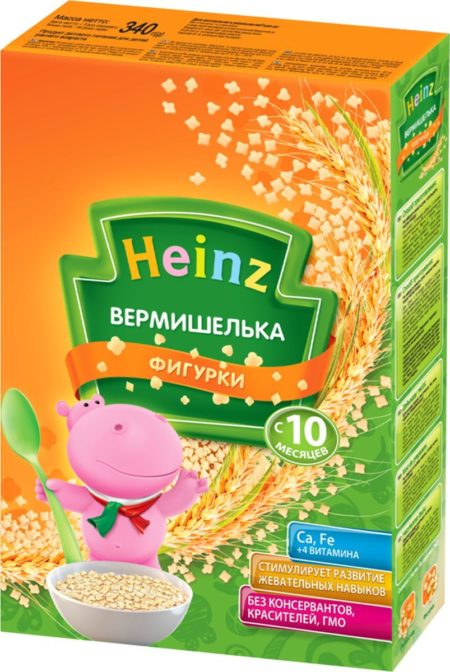 Heinz Макароны Вермишелька Фигурки (с 10мес.) 340 г